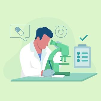 Scientifique sur le développement de la recherche médicale