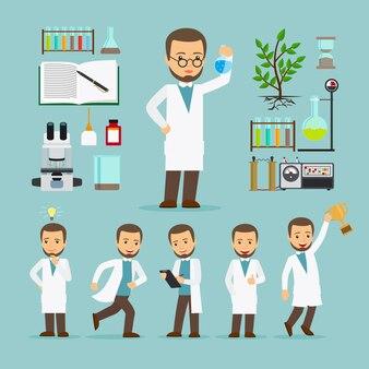 Scientifique avec équipement de laboratoire