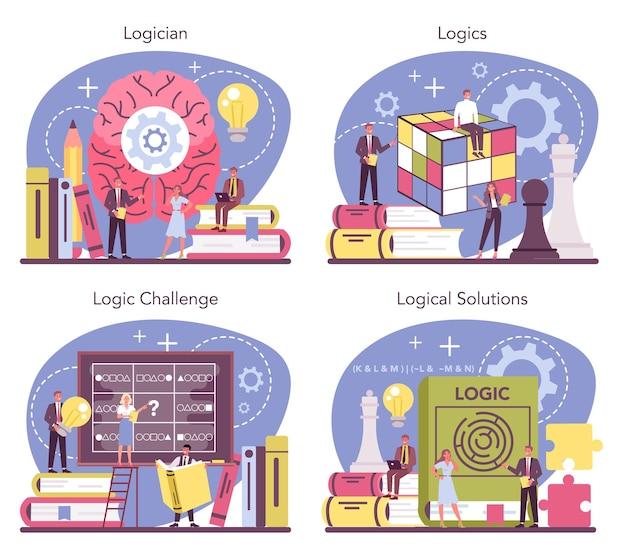 Scientifique étudiant systématiquement les défis et solutions logiques