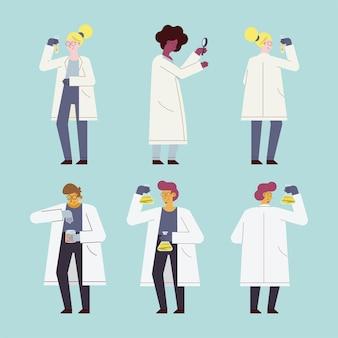Scientifique femmes et hommes