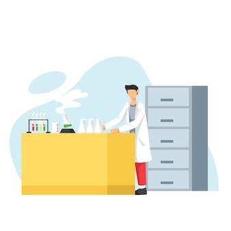 Scientifique travaillant au laboratoire