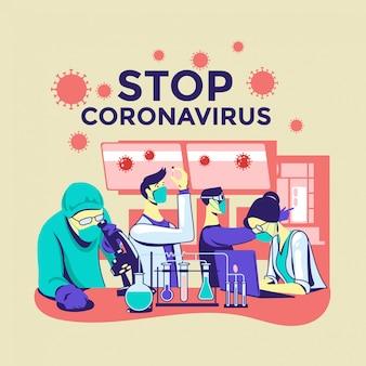 Les scientifiques mènent des recherches sur le coronavirus covid-19 créent un vaccin pour arrêter la pandémie de coronavirus