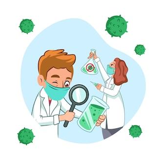 Scientifiques à la recherche d'un vaccin contre le coronavirus