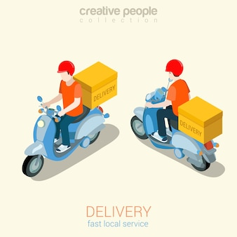 Scooter 3delivery l'homme plat 3d web