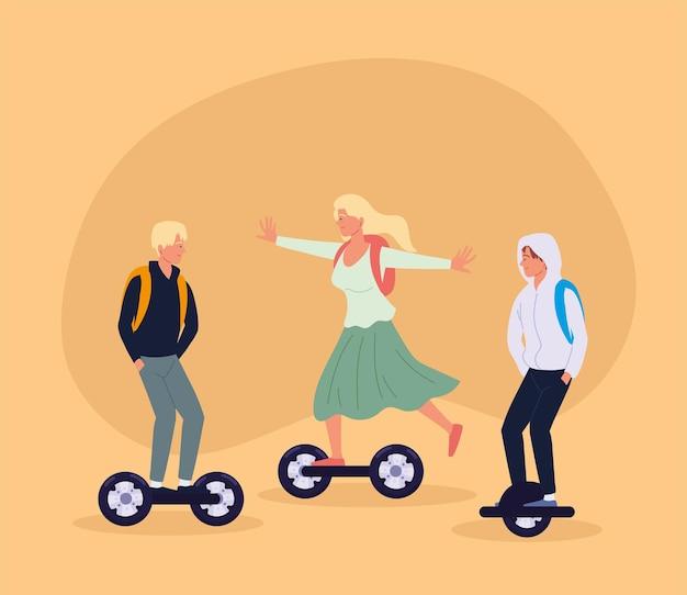 Scooter de vélo de transport d'écologie de jeunes