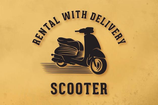 Scooter vintage, location, conceptions de logo de livraison rapide
