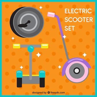 Scooters électriques avec un style adorable