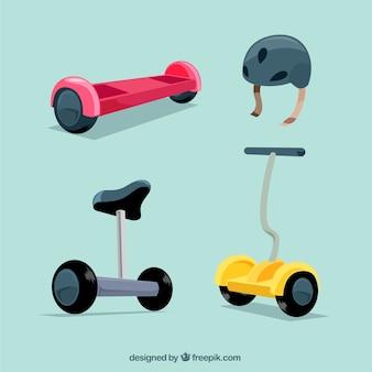 Scooters électroniques avec un design plat