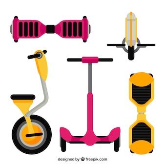 Scooters urbains au design plat