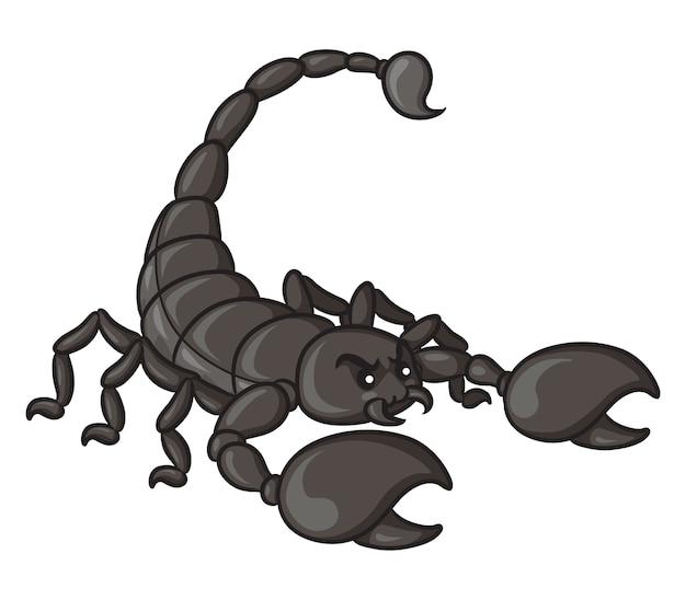 Scorpion mignon de bande dessinée