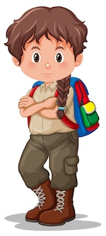 Un scout brune