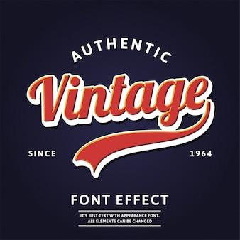 Script moderne de type logo authentique vintage