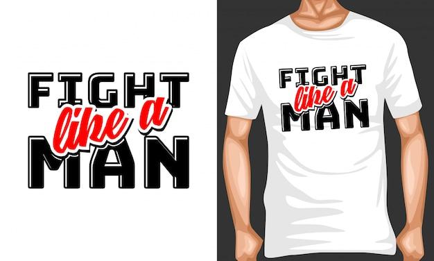 Se battre comme un homme lettrage citations de typographie