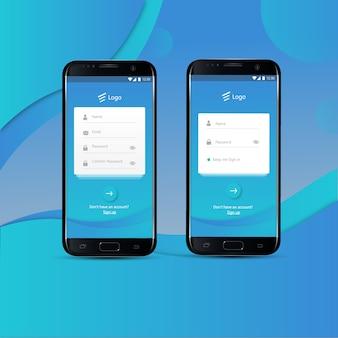 Se connecter et s'inscrire avec un téléphone intelligent