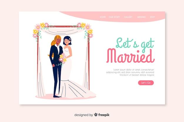 Se marier page de mariage