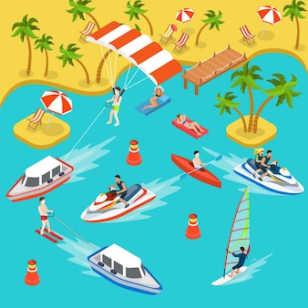 Sea shore matelas pneumatique yacht bateau kayak parachute ascensionnel jetski surf