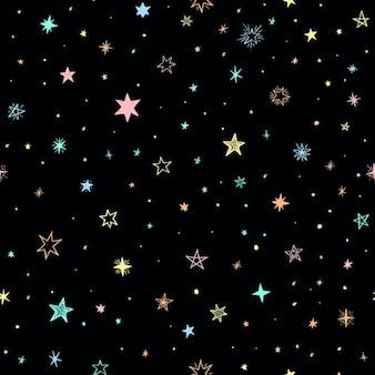 Seamless avec des étoiles handdrawn