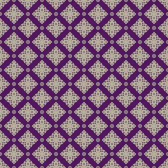 Seamless line motif thaïlandais doré