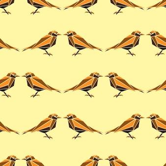 Seamless avec des oiseaux géométriques