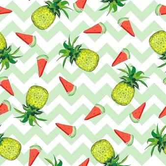 Seamless pattern avec des ananas