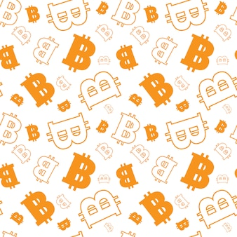 Seamless pattern avec bitcoins