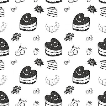 Seamless pattern avec des bonbons