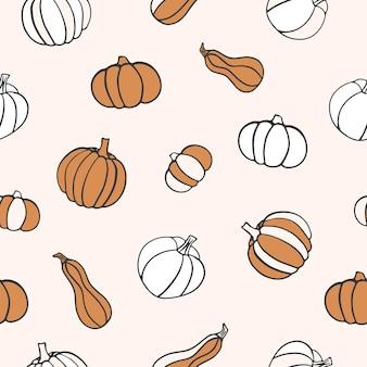 Seamless pattern.citrouille fond clair. illustration vectorielle