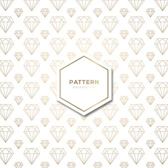 Seamless pattern avec diamant de forme