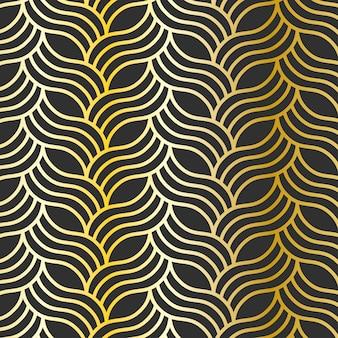 Seamless pattern doré
