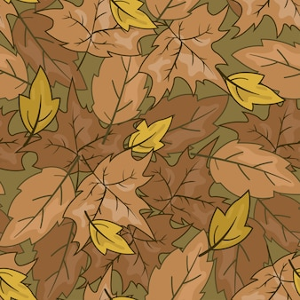 Seamless pattern feuille d'automne