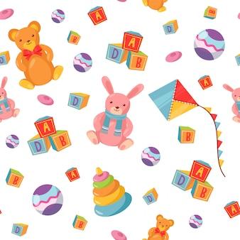 Seamless pattern avec des jouets pour enfants