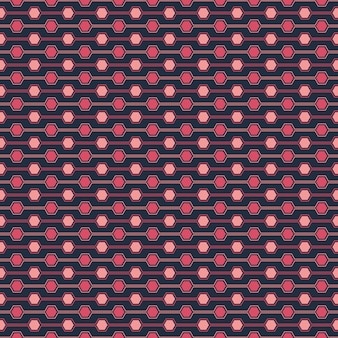 Seamless pattern of hexagone