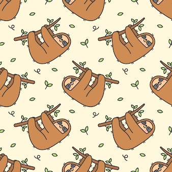 Seamless pattern paresseux mignon
