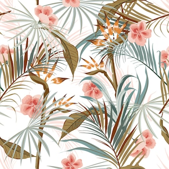 Seamless pattern rétro vintage tropical
