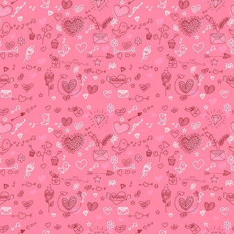 Seamless pattern de la saint-valentin