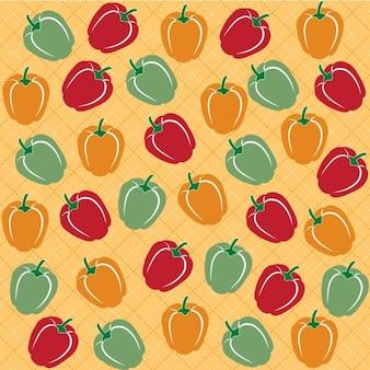 Seamless de poivrons doux de différentes couleurs