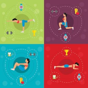 Séance d'entraînement pour le concept de femme active