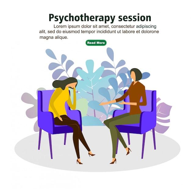 Séance de psychothérapie