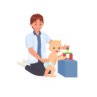 Séance de traitement en ergothérapie pour le dépistage du développement de l'enfant