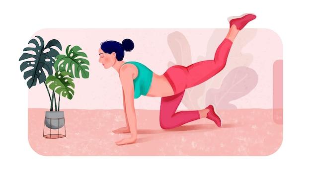 Séance de yoga en ligne sur téléphone intelligent à la célébration de la journée de yoga à domicile