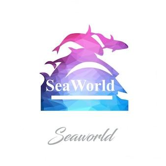 Seaworld monument polygon logo