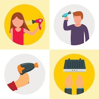 Sèche-cheveux machine