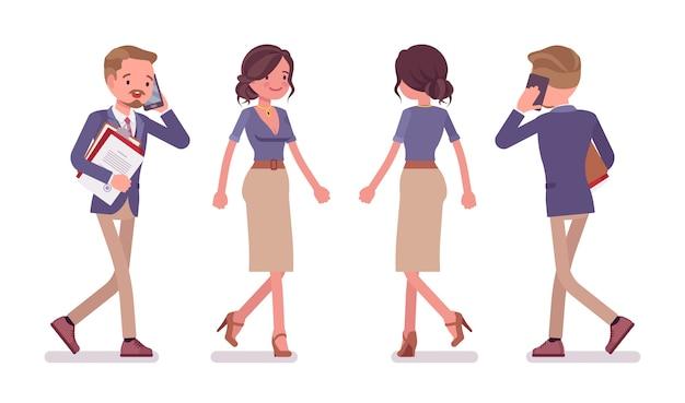 Secrétaire de bureau masculin et féminin