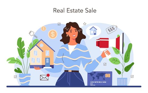 Secteur immobilier. achat et vente de biens immobiliers. aide aux agents immobiliers