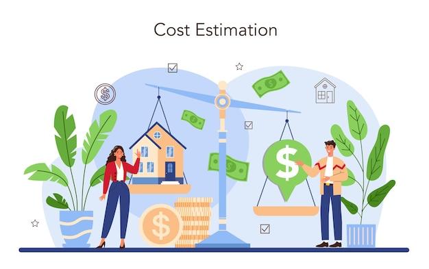 Secteur immobilier. assistance d'agent immobilier et aide dans la propriété