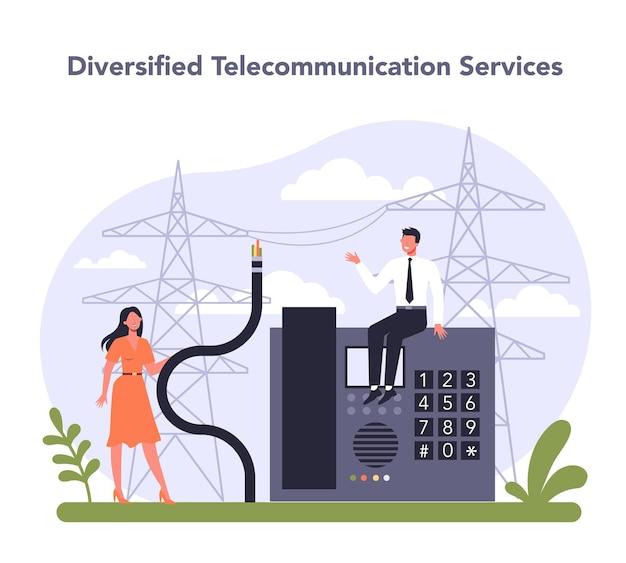 Secteur des services de télécommunication internet de l'économie