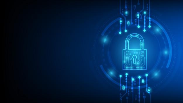 Sécurité de la cyber-technologie, fond de protection réseau