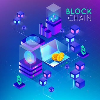 Sécurité du concept isométrique blockchain