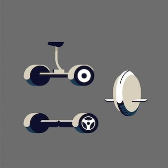 Segway. monowheel ou roue solo.