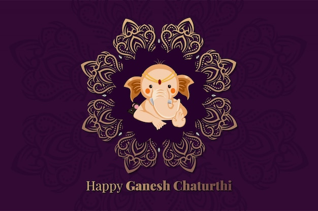 Seigneur ganesha pour happy ganesh chaturthi